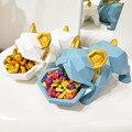 Creativo Bulldog caja de dulces decoración perro creativo entrada corrector disco del gabinete del zapato de la puerta clave caja de almacenamiento mejor regalo