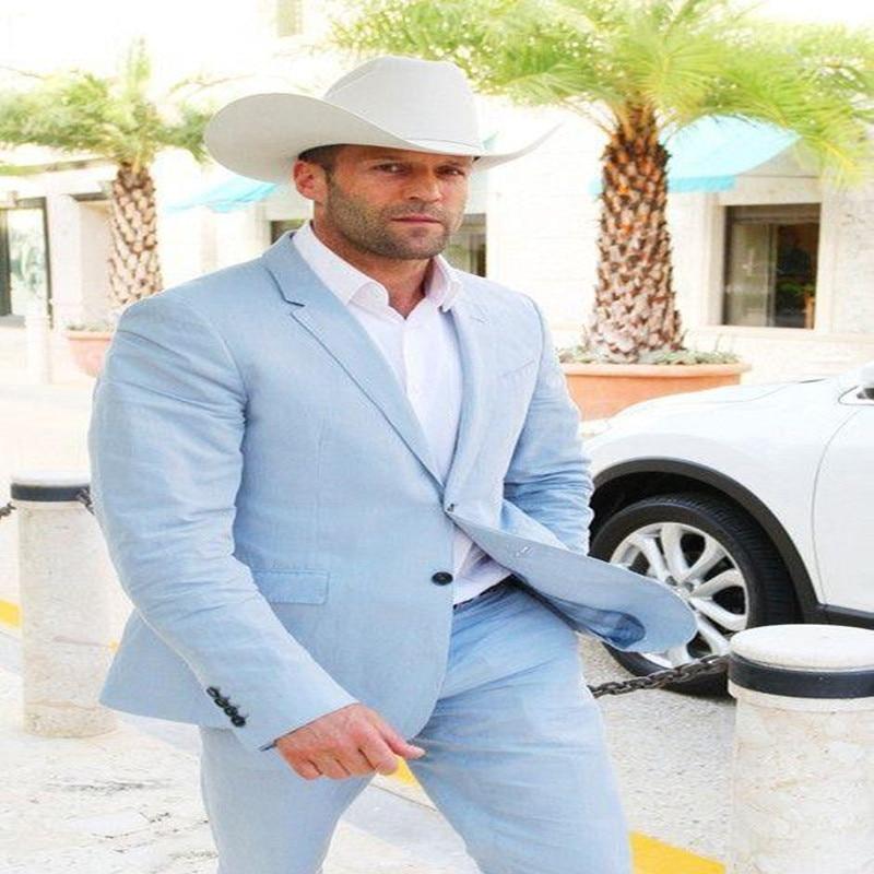 2018-Sky-blue-linen-men-suit-Simple-suits-for-male-Men-s-classic-suit-Wedding-suit