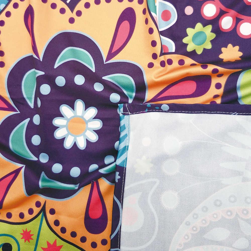 Cutomタペストリー壁掛け、トンボbohem現代インドに触発ミニマリストバグと花プリント白スカイブルーとダーク