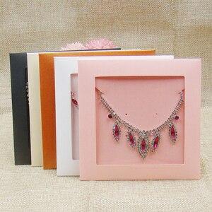 Image 1 - 50 Stuks Per Lot Diverse Kleur Sieraden Ketting Zak Diy Cd Show Case Bruiloft Uitnodiging Kaart Decoratie Verpakking Papieren Zakken