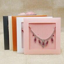 50pcs per lotto vari colori collana di gioielli FAI DA TE CD show case carta dellinvito di cerimonia nuziale della decorazione imballaggio sacchetti di carta