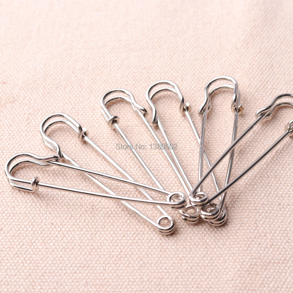 10pcs/lot12cm/7cm/5.6cm nickel color color Brooch Safety Pins label pins for Women Decoration for Earring