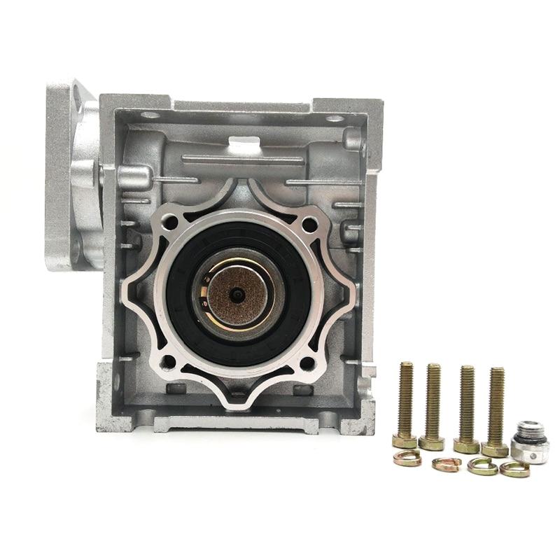 Worm Gearbox 15:1 NMRV050 14mm 19mm Input Shaft 90 Degree Worm Gear Speed Reducer NEMA42 for Servo Motor Stepper Motor
