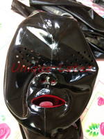 Latex Mask MESH EYES RED TEETH RED NOSE TUBE CUSTOMIZED