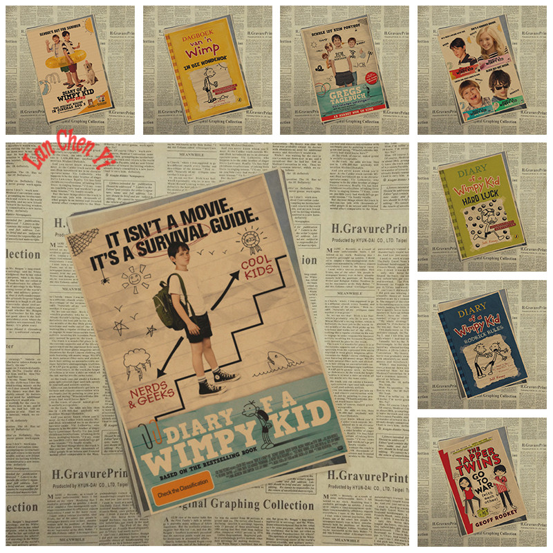 Nostalgic Matte Kraft Paper Poster Diary of a Wimpy Kid Office Gift Room Dining Home Decor wall sticker Design