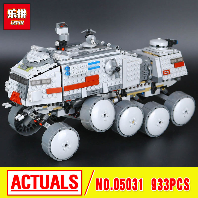 LEPIN 05031 933Pcs Star  Clone Turbo Tank 75151 Building Blocks Compatible with 75151 STAR PLAN Toy 05031 Boys Toys Gift  wars lepin 02012 city deepwater exploration vessel 60095 building blocks policeman toys children compatible with lego gift kid sets