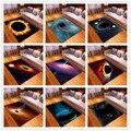 Скандинавский фланелевый коврик для гостиной  супер мягкий нескользящий коврик с 3D принтом Galaxy Space для гостиной  большой размер