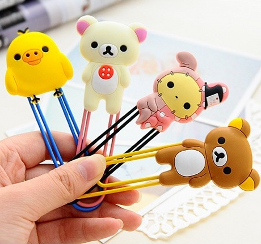 2017 Hot Sale Kawaii Rilakkuma Series Bookmark Clip Memo  Paper   Novelty Gift Retail K6402