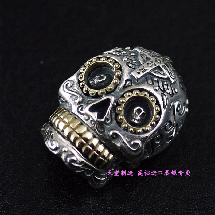 Silver copper mix match cross skull buckle wallet cloth buckle