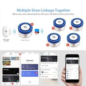 Image 5 - WiFi kablosuz Siren ev güvenlik WiFi Alarm akıllı Siren Tuya ile uyumlu Alexa/Google ev