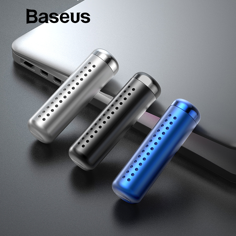 Baseus Metal Aromatherapy Car Holder Air Freshener For Air Vent Air Condition Diffuser Air Purifier Solid Perfume Freshener