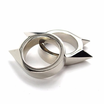 1Pcs Women Men Safety Survival Ring Tool EDC Self Defence Stainless Steel Ring Finger Defense Ring Tool Silver Gold Black Color 6