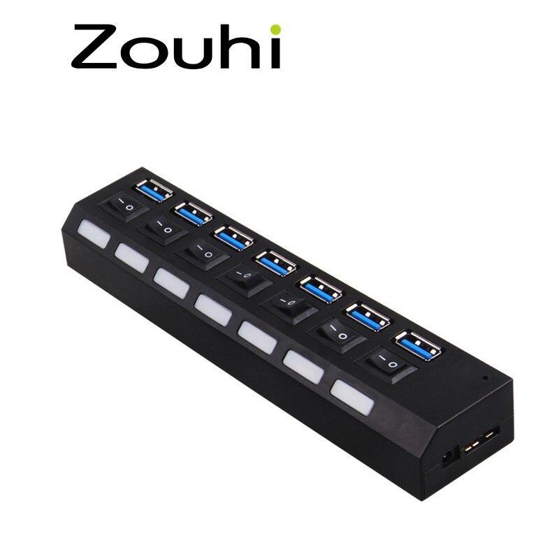 Hoge snelheid 5 Gbps 7 POORTEN USB 3.0 HUB met aan / uit-schakelaar, - Computerrandapparatuur - Foto 6