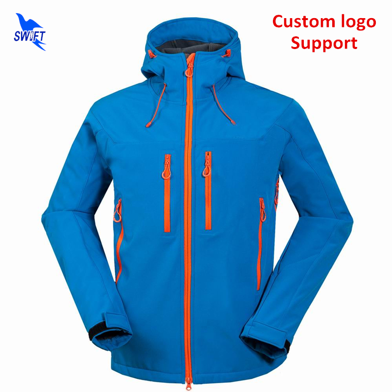 2018 Custom Waterproof Hiking Clothing Thermal Fleece Softshell Jacket Men Hoodie Windproof Ski Climbing Hunting Fishing Clothes стоимость