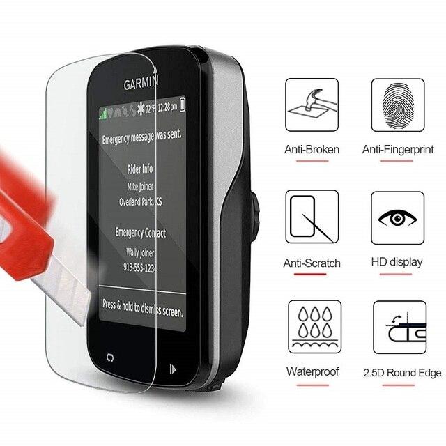 VSKEY 50 sztuk szkło hartowane dla Garmin Edge 830 820 530 520 130 1030 1000 ochraniacz ekranu GPS folia ochronna