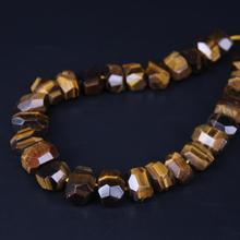 15.5/strand Irregular Tiger Eye Stone Faceted Nugget Loose Beads,Natural Yellow Gems Cut Freeform Pendant Jewelry Making