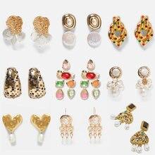 Atacado jujia moda ouro za pérola gota brinco para mulheres jóias de casamento boho elegante balançar brincos de declaração bijoux
