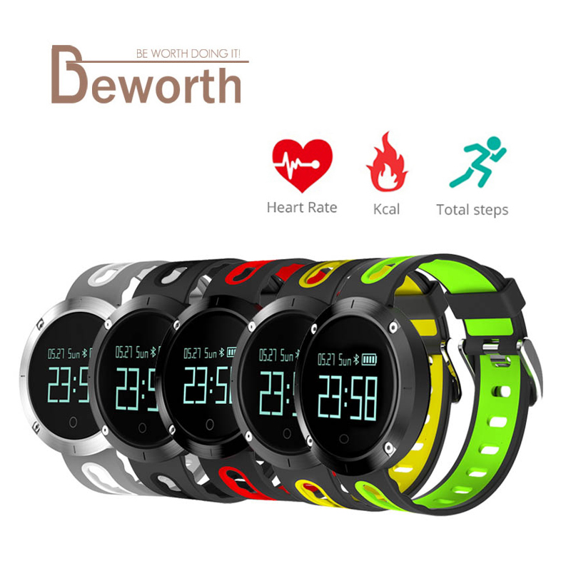 DM58 Smart Band Heart Rate Blood Pressure Bracelet IP68 Waterproof Fitness Tracker Sports Watch Smartband for IOS Android Phone