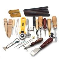 1set (20pcs) Leathercraft Set Kit Punch Stitching Sewing Leather Tools DIY Stamp Hand Gift