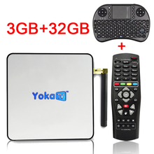 Yokatv KB2 PRO Android 6.0 TV Box 3 GB RAM 32 GB ROM Amlogic S912 Octa core Android Tv Box Dual WiFi BT4.0 UHD 4 K 2 K Reproductor Multimedia