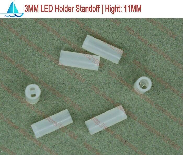 200pcs/lot  3MM LED Lamp Holder Hight:11MM Light Emitting Diode Spacer Support Standoffs