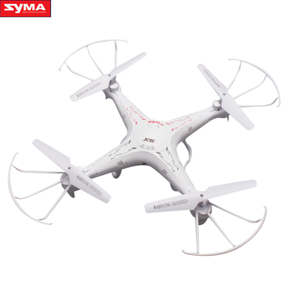 Syma X5 2.4G blanc RC Drones hélicoptère vis modèle professionnel RTF télécommande quadrirotor jouets nouveauté
