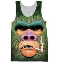 Фотография Smokey Gorilla Tank Top Men Women Summer style casual Sleeveless vest 3D Digital printing Animal Gorilla Vest Cool Tank tops