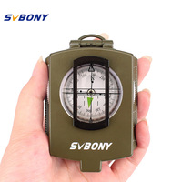 SVBONY Compass Pocket Style Military Army Camouflage Geology Outdoor Metal Compass For Hiking Travel Travel Hunting