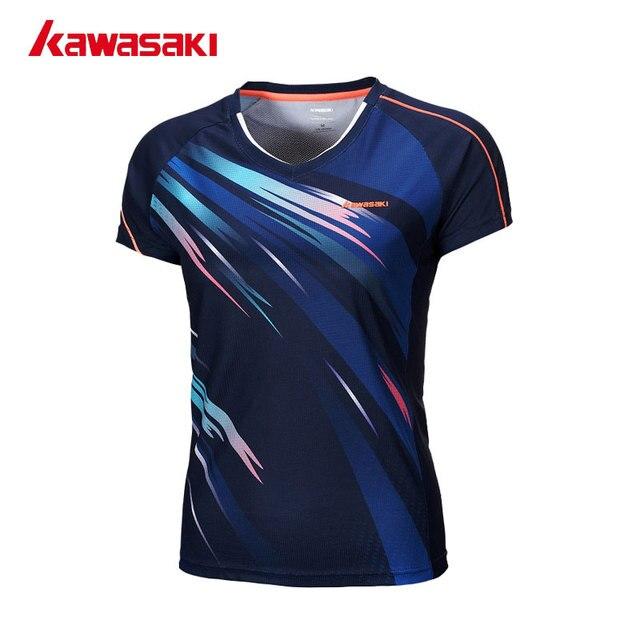 Kawasaki Breathable Running Sporting Shirts Tennis Badminton T Shirt Super Light Short-sleeved Shirts For Female Women ST-172004
