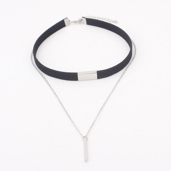 2019 sexy gothic punk Choker Necklace charms jewelry woman statement necklace black chain bijoux femme#ew50 image
