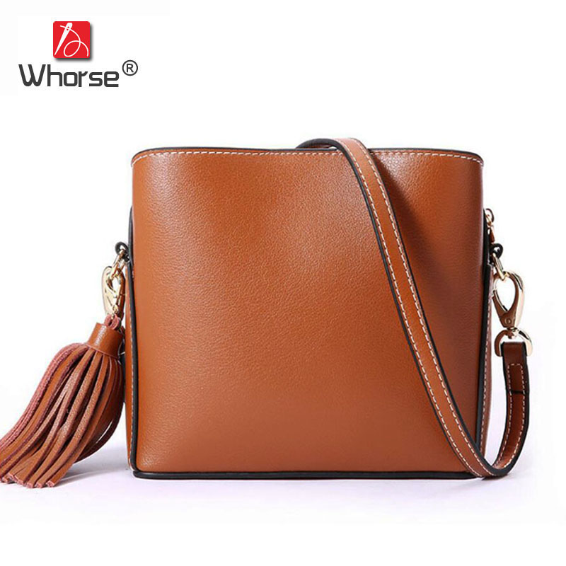 Brand Fashion Mini Genuine Leather Women Shoulder Bag Tassel Ladies Small Flap Satchel Crossbody Messenger Bags For Girls W09570