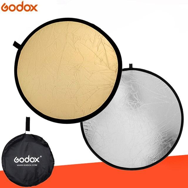 """Godox 43 """"110 センチ 2 で 1 ポータブル折りたたみライトラウンド写真リフレクターのための写真"""
