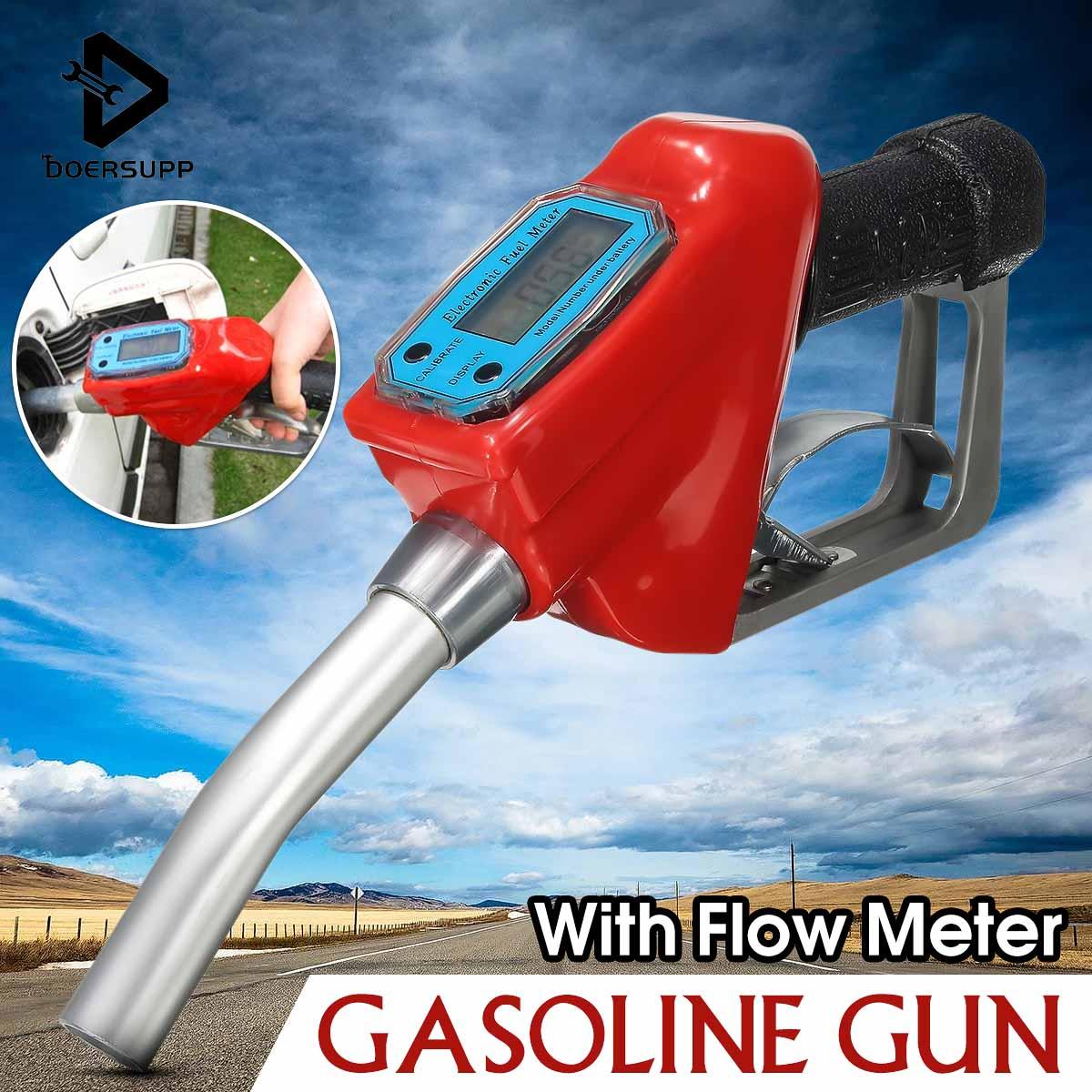 Doersupp Gas Flow Meter Sensor Flowmeter Indicator Counter Fuel Gauge Oil Delivery Gun Nozzle Gasoline Station Oil Refueling Gun цена