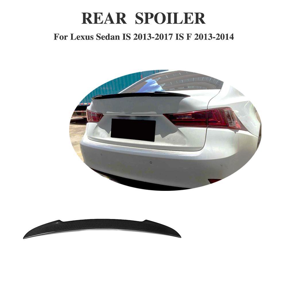 Углеродное волокно автомобилей задний багажник загрузки спойлер крыльями на спине для Lexus IS F/2013 2014 IS IS250 IS300 IS350 2013 2017 стайлинга автомобилей