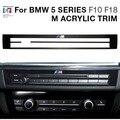 M Motorsport Power Performance Acrylic Center Console Radio CD Trim Cover Car Sticker For BMW 5 Series F10 F18 520li 525li M5
