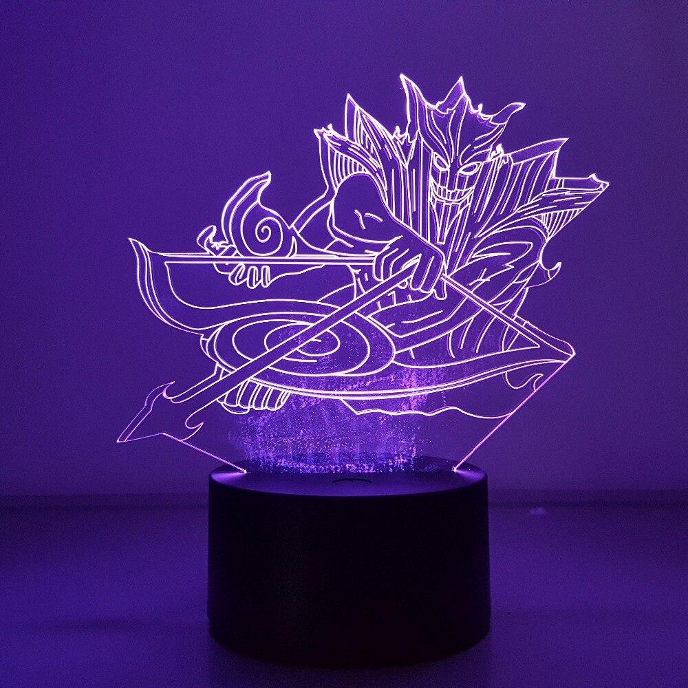 Naruto Sasuke Susanoo 3d Visual Illusion Led 7 Color