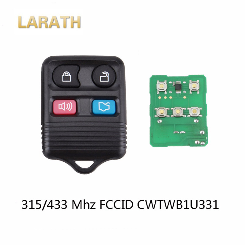 Larath 5 шт./лот 4 кнопки дистанционного ключа 315/433 МГц для ford CWTWB1U331 удаленной машине брелок с circuid доска