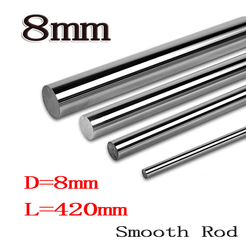 2pcs/lot 8mm linear shaft 8mm LM Shaft diameter  420mm long for LM8UU 8mm linear ball bearing linear smooth rod 8mm linear shaft group 33pcs l350mm 33pcs l405mm 33pcs l420mm for 8mm rod shaft lm8uu