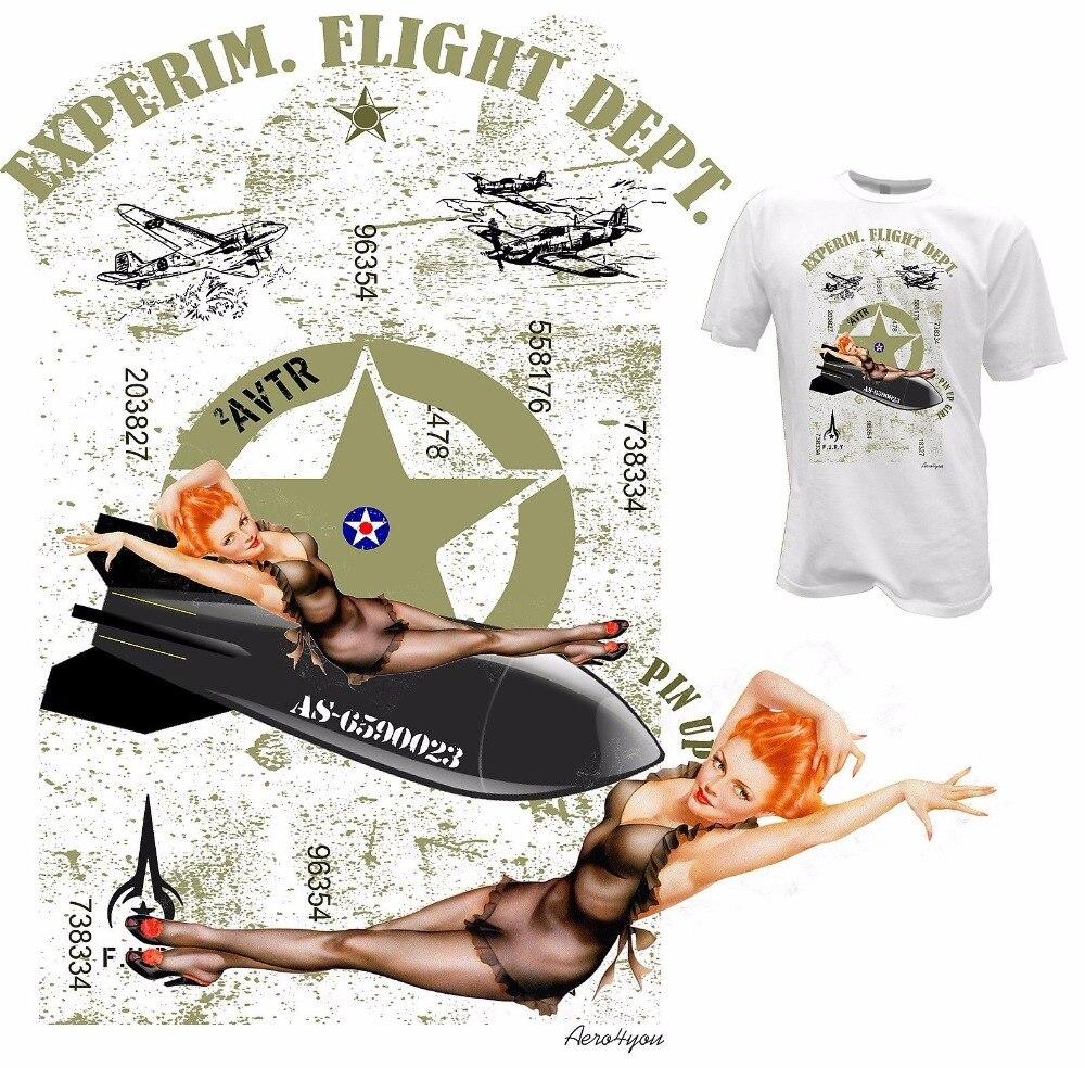 2019 Print T-Shirt Harajuku Short Sleeve Men Top PINUP GIRL Flieger Shirt  Flugzeug Luftwaffe USA Herren  Create Your Tee Shirts