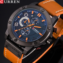 Luxury Brand CURREN Fashion Sports Men Watches Chronograph Army Milita