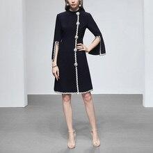 Elegan Vintage Dress Semi