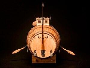 Image 3 - NIDALE Model wyprzedaż 1/N wycinany laserowo drewniany model najwcześniejszy model drewna podwodnego instrukcja angielska