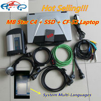 Best quality mb star sd connect 4 with 2016.12 newest software 250gb ssd super speed with For panasonic CF52 4g laptop mb sd c4