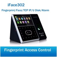 iFace302 iface 302 face& fingerprint time attendance access control with waterproof cover outdoor casing metal protect with key