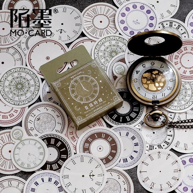 Mohamm reloj de diario calendario japonés papel decorativo artesanía pegatinas Vintage Scrapbooking papelería