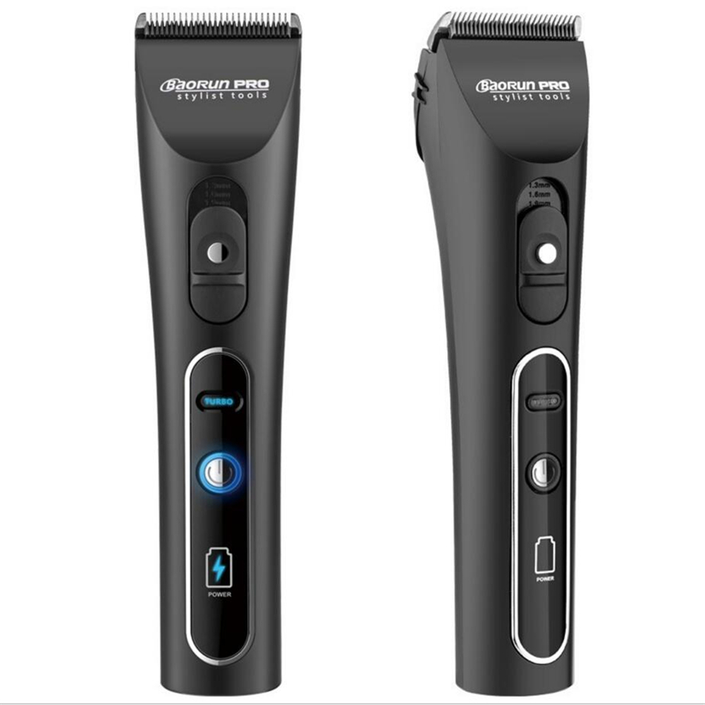 Professional Electric Hair Clipper Lithium A6 Rechargeable Hair Trimmer Titanium Ceramic Blade for Salon Hair Cutting Machine-in Hair Trimmers from Home Appliances    3