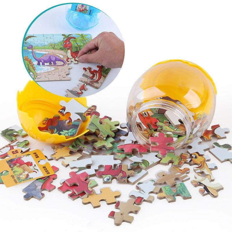 12 pièces/ensemble dinosaures oeufs 3D Puzzles Jurassic World jouets en bois jouet éducatif pour enfants jeu de Puzzle enfant jouets garçon cadeaux