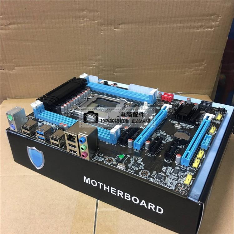 X79 motherboard LGA2011 DDR3 64G ATX USB3.0 SATA3 PCI-E SSD support REG ECC memory and Xeon E5 processor full new x79 b75b motherboard lga 2011 usb3 0 sata3 pci e 4 16g reg ecc memory support xeon e5 e5 2650 e5 2670