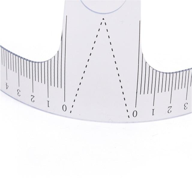 1PC Eyebrow Guide Ruler Microblading Calliper Stencil Makeup Reusable Semi Permanent Eyebrow Ruler Eye Brow Measure Tool 5