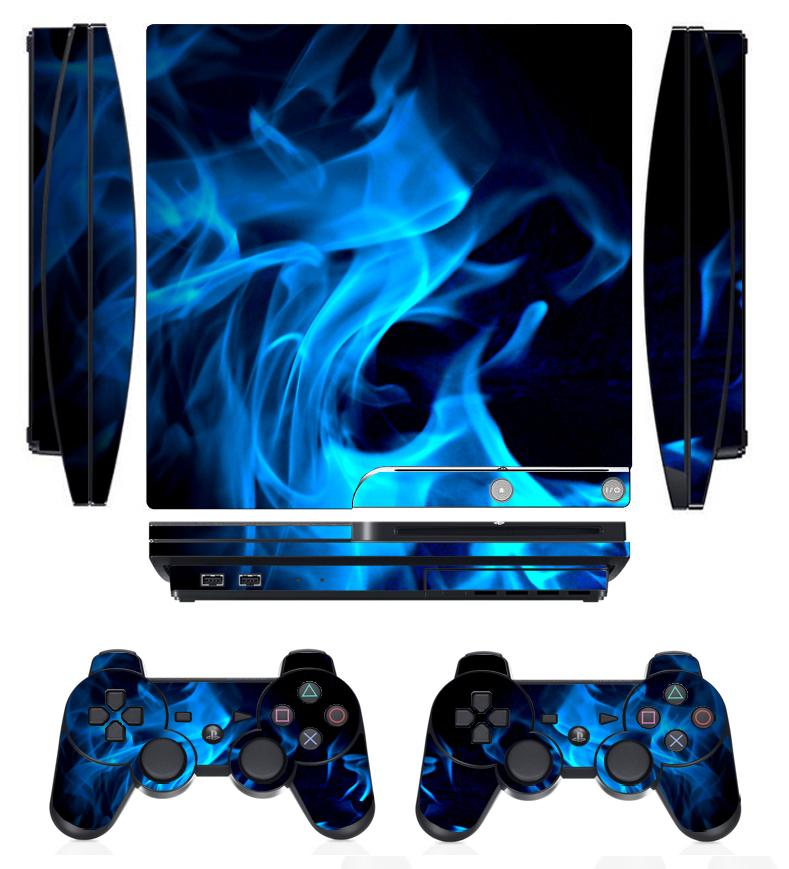 Faceplates, Decals & Stickers Hot Sale Blue Fire 256 Vinly Skin Sticker Sony Ps4 Playstation 4 And 2 Controller Skins Video Game Accessories